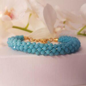 Kumi Design Armband blauw opal