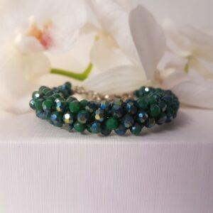 Kumi Design Armband groen metallic