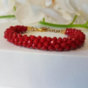 Kumi Design Armband rood opal