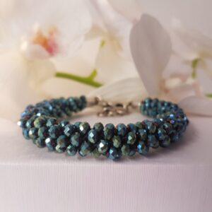 Kumi Design Armband turquoise metallic