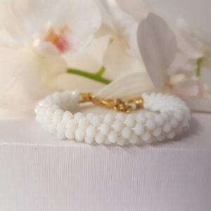 Kumi Design Armband Wit Opal