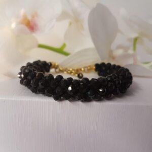 Kumi Design Armband zwart goud