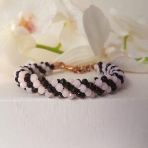 Kumi Design Armband zwart roze