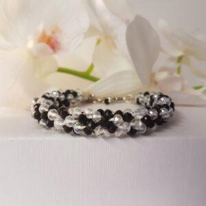 Kumi Design Armband zwart-wit