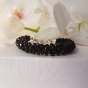 Kumi Design Armband zwart zilver