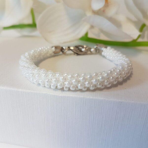 Kumi Design Armband witte mini parels