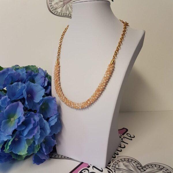 Kumi Design Ketting beige goud
