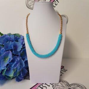 Kumi Design Ketting blauw opal goud