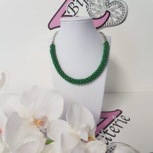 Kumi Design Ketting groen zilver