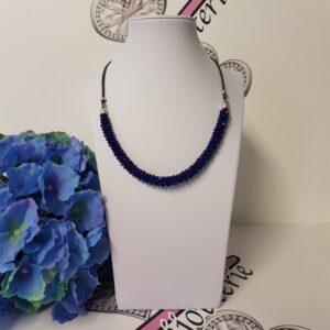 Kumi Design Ketting kobaltblauw zilver
