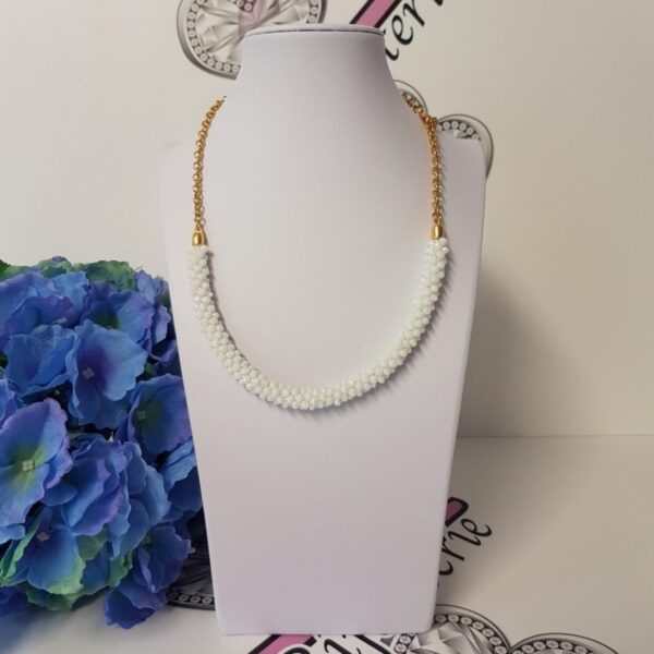 Kumi Design Ketting wit opal goud