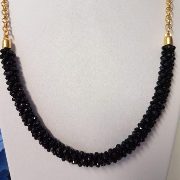 Kumi Design Ketting zwart goud