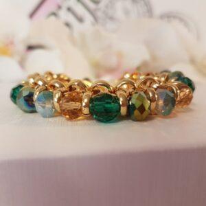 Jasseron armband goud groen